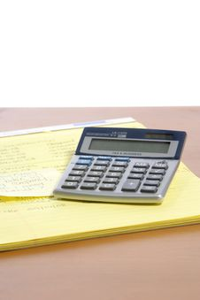 Free Calculator On Desk Stock Images - 6796694