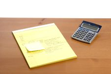 Free Calculator On Desk Stock Photo - 6796770