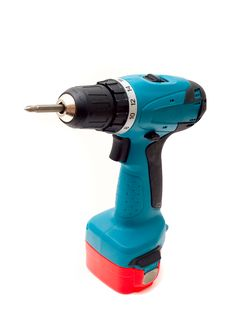 Free Drill Cordless Screwdriver. Royalty Free Stock Images - 6797419