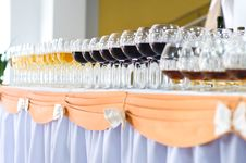 Free Array Of Wineglasses, Selective Focus Stock Photo - 6798160