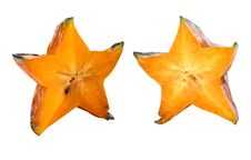 Free Two Sections Of Carambola Stock Photo - 6798180