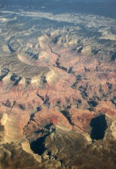 Free Grand Canyon 27k Feet Up Stock Photography - 6798272