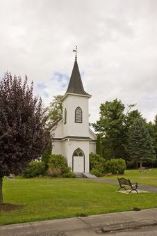 Free Church And Bench Stock Photos - 6798553