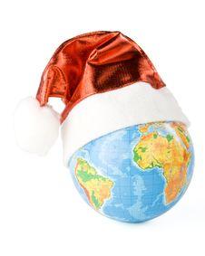 Free Santa S Red Hat And Globe Royalty Free Stock Photos - 6798578