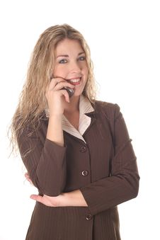 Free Business Woman Talking On Cellphone Stock Photos - 6799113