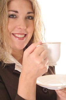 Free Woman Having A Cup Of Tea Royalty Free Stock Photo - 6799175