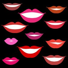 Smiles, Lips Background Stock Photography