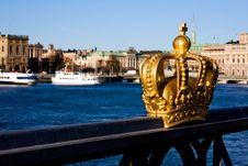 Free Gold Crown In Stockholm Royalty Free Stock Image - 6799876