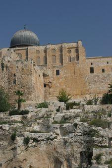 Free El Aqsa Mosque,Ophel Archaelogical Park Stock Photo - 680030
