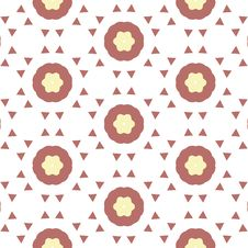 Repeated Flower Background Royalty Free Stock Photos