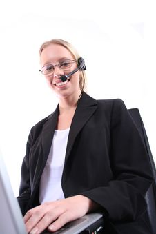 Free Business Woman - Corporate Spoksewoman Royalty Free Stock Photo - 681185