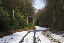 Free Snowy Lane 1 Stock Photography - 681692
