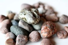 Free Ocean Stones On Isolated Background Royalty Free Stock Photo - 681745