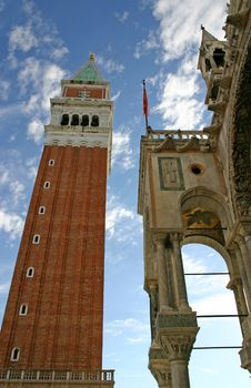 Campanile Tower In Venice Royalty Free Stock Image