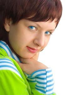 Free The Blue-eyed Girl Royalty Free Stock Photo - 682615
