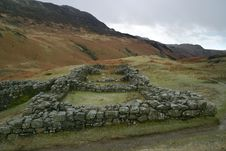 Free Hardknott Roman Fort In West Cumbria, England Royalty Free Stock Photos - 685818