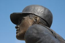 Free Baseball Statue Royalty Free Stock Photo - 686305