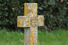 Crucifix Headstone Royalty Free Stock Images