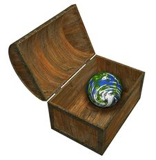 Free Earth In A Chest Stock Images - 688394