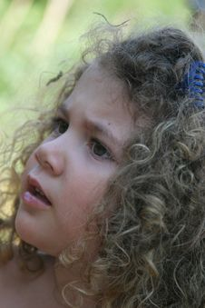 Curly Little Girl Royalty Free Stock Photos