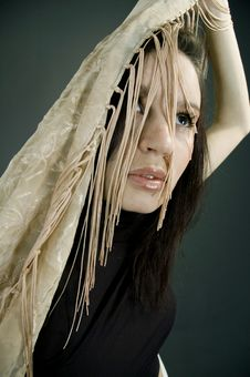 Free Woman With Beige Scarf Stock Photo - 689370
