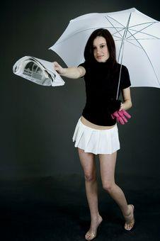 Free Under The Umbrella Stock Image - 689461