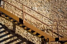 Free Stairs And Stone Wall Stock Photo - 689530