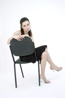Free Girl On A Chair Stock Photo - 689890