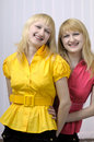 Free Two Smiling Blond Sisters Stock Photo - 6809650