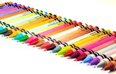 Free Color Crayons In A Straight Line Stock Images - 6800044