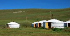 Free Mongolian Yurts Royalty Free Stock Photo - 6800175