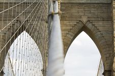 Free Brooklyn Bridge S Arches Royalty Free Stock Image - 6801136