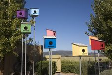 Free Colorful Bird Houses Stock Image - 6801451