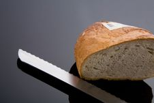 Free Bread And Knife Stock Image - 6801681