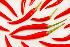 Free Chili Peppers Royalty Free Stock Photo - 6801725