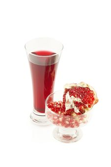 Free Juice,  Grains And A Pomegranate Piece Stock Image - 6802341