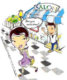 Free Lady And Man Illustration Stock Image - 6802661