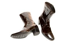Free Leather Female Boots Royalty Free Stock Image - 6803476