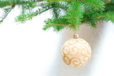 Free Christmas Decoration On Tree Stock Photos - 6803513