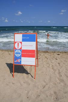 Danger At The Sea. Stock Images
