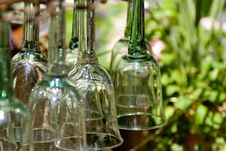 Free Glass Goblets Hanging Royalty Free Stock Images - 6804389