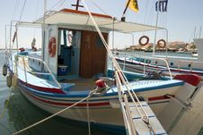 Free Traditional Greek Fishing Boat. Royalty Free Stock Photo - 6804725