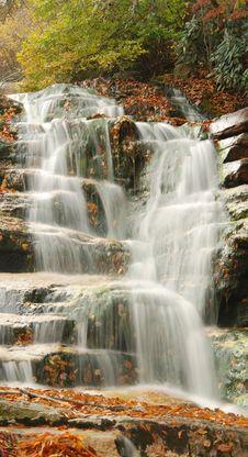 Free Cascading Mountain Waterfall Stock Image - 6804911