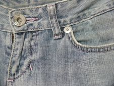 Free Jeans Front Pocket And Zipper Closeup Stock Image - 6804981