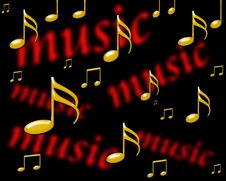 Free Music Note Background 3 Stock Images - 6805044