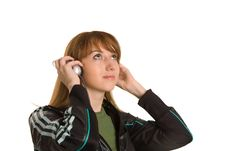 Free Young Girl With Headphones Royalty Free Stock Photo - 6805135