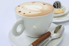 Free Cappuccino With Chinamon Stick Royalty Free Stock Photo - 6805355