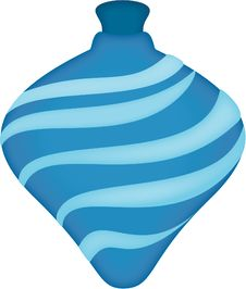 Free Blue Handblown Ornament Stock Images - 6805474