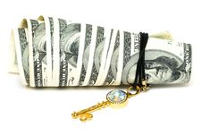 Free Golden Key And Dollars Royalty Free Stock Photo - 6805485