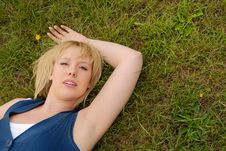 Attractive Blond Outdoors Royalty Free Stock Photo